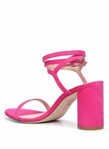 Stuart Weitzman Stuart Weitzman  Bantlı Kadın Deri Sandalet 101522345 Fuşya